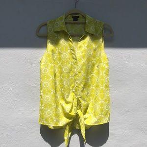 ANN TAYLOR// yellow-green blouse